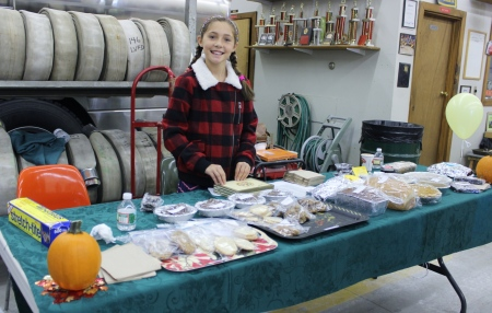 Sadie Mae Fowler did a GREAT job organizing the Bake Sale