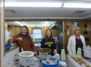 The friendly kitchen servers!